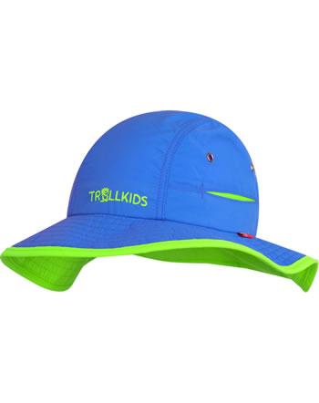 Trollkids Kids Summer Hat mit breiter Krempe TROLL medium blue/l. green 945-106