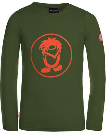Trollkids T-Shirt Langarm KIDS TROLL LONGSLEEVE forest green/fl. orange 343-117
