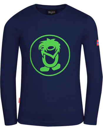 Trollkids T-Shirt Langarm KIDS TROLL navy/green 343-100