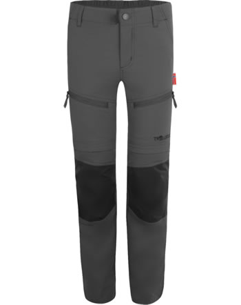 Trollkids Trekking pants Zip-Off KIDS NORDFJORD Slim Fit anthracite 853-602