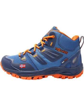 Trollkids Hiking Shoes KIDS RONDANE HIKER MID mystic blue/orange 252-142
