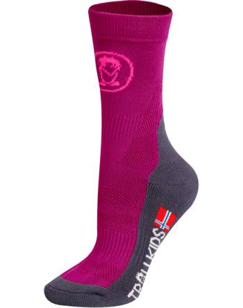 Trollkids Trekking socks TREKKING MID CUT SOCKS II berry 930-206