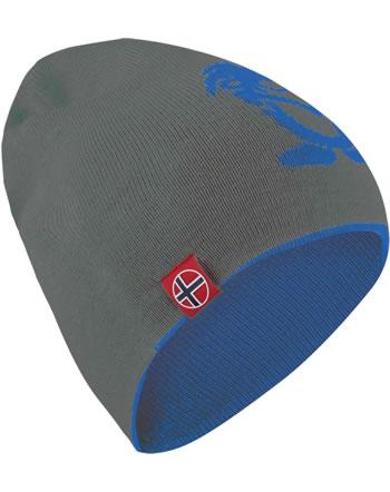 Trollkids Wende-Mütze Strick KIDS TROLL BEANIE LONG anthracite/med blue 921-603