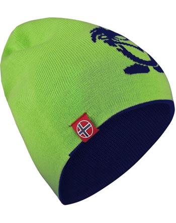 Trollkids Wende-Mütze Strick KIDS TROLL BEANIE LONG navy/bright green 921-100
