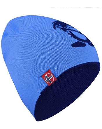 Trollkids Wende-Mütze Strick KIDS TROLL BEANIE LONG navy/medium blue 921-117