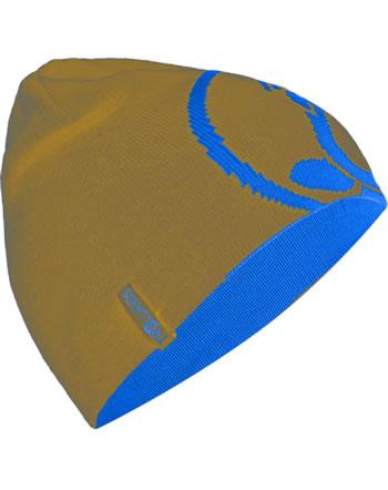 Trollkids Wende-Mütze Strick KIDS TROLLFJORD BEANIE bronze/azure blue 955-805