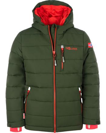 Trollkids Winter/Ski-Jacke KIDS HEMSEDAL XT forest green/flame orange 513-322