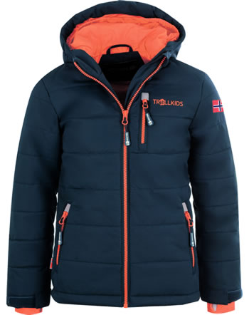Trollkids Winter-Jacke Ski-Jacke KIDS HEMSEDAL XT mystic blue/orange 513-142