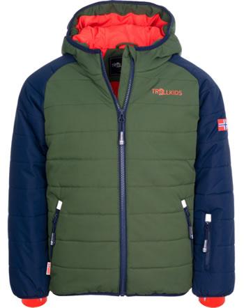 Trollkids Winter-/Ski-Jacke KIDS HAFJELL PRO navy/forest green/orange 514-115