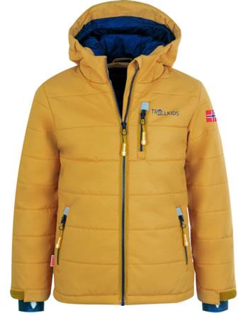 Trollkids Winter/Ski-Jacke KIDS HEMSEDAL XT golden yellow/mystic blue 513-703