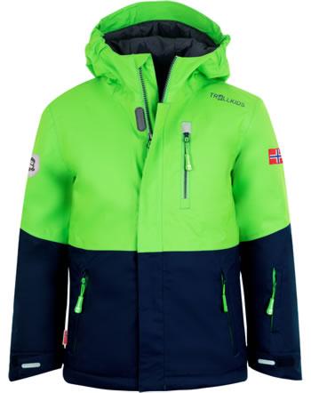 Trollkids Winterjacke KIDS HALLINGDAL JACKET bright green/navy 226-304