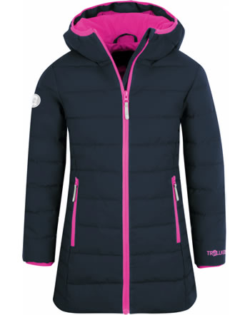 Trollkids Wintermantel Steppmantel GIRLS STAVANGER navy/pink 219-114