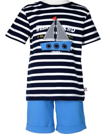 Weekend à la mer garçon chemise et short manches courtes FREGATE marine/bleu E121.35