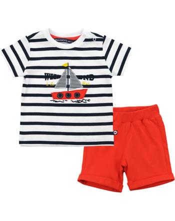 Weekend à la mer garçon chemise et short manches courtes FREGATE marine/rouge E121.35