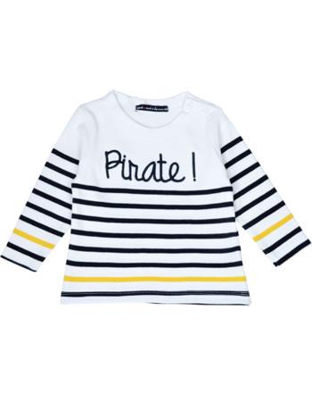 Weekend à la mer chemise garçon manches longues BEATLES MARINIERE pirate B121.18