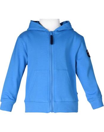 Weekend à la mer boys sweat jacket with hood BONUMEUR bleu B121.22