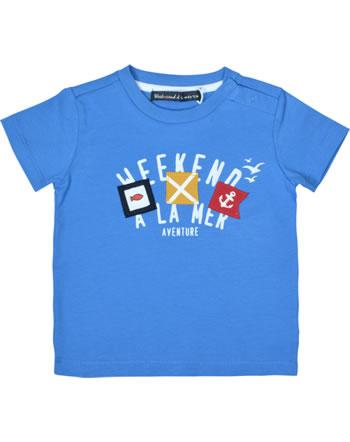 T-shirt week-end à la mer garçon manches courtes PARADOXAL bleu B121.12