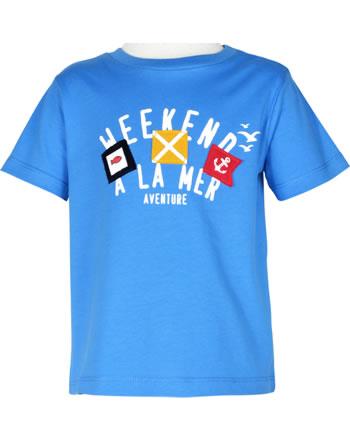 T-shirt week-end à la mer garçon manches courtes PARADOXAL bleu E121.12