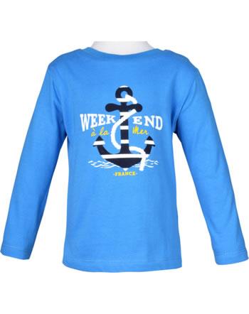 Weekend à la mer chemise réversible garçon manches longues RECTOVERSO bleu B121.19