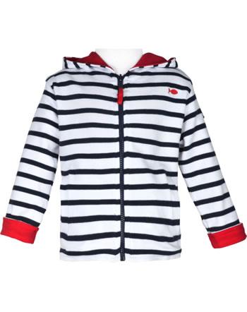 Weekend à la mer reversible sweat jacket with hood ECOLO GILET rot/blau E121.21