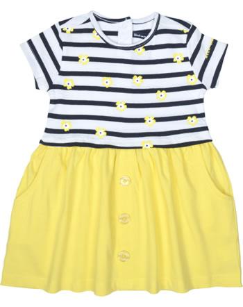 Weekend à la mer filles robe manches courtes OSOLEIL rayé jaune B121.58