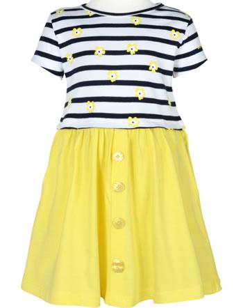 Weekend à la mer filles robe manches courtes OSOLEIL rayé jaune E121.58