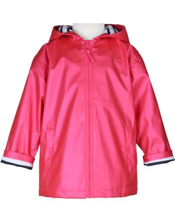Weekend à la mer girls rain jacket with hood HOBY6CIRE pink metallic E121.02M