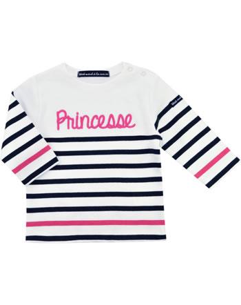 Weekend à la mer chemise fille manches longues BEATLES MARINIERE princesse E121.18