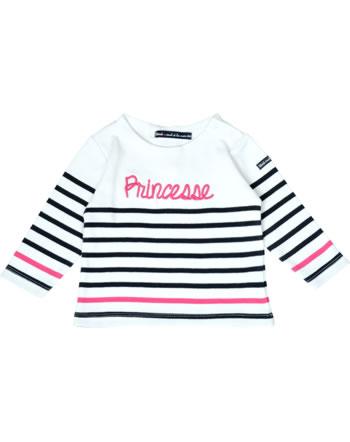 Weekend à la mer chemise fille manches longues BEATLES MARINIERE princesse B121.18