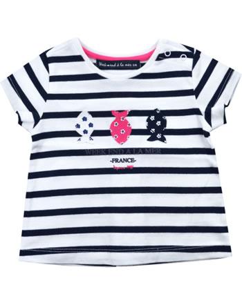 T-shirt manches courtes filles Weekend a la mer LADYWEEK bleu marine/rayé B121.45