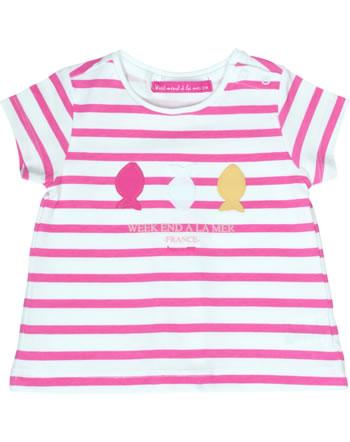 T-shirt manches courtes filles Weekend à la mer LADYWEEK rose/rayé B121.45