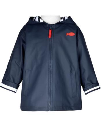 Weekend à la mer rain jacket with hood HOBY6 CIRE navy E121.02