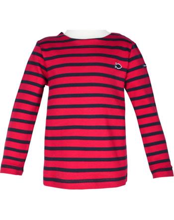 Weekend à la mer chemise manches longues basique LAROCHELLE rayé rouge E121.B6