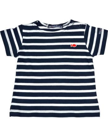 Weekend à la mer T-shirt manches courtes basique QUIMPER rayé E120.B4