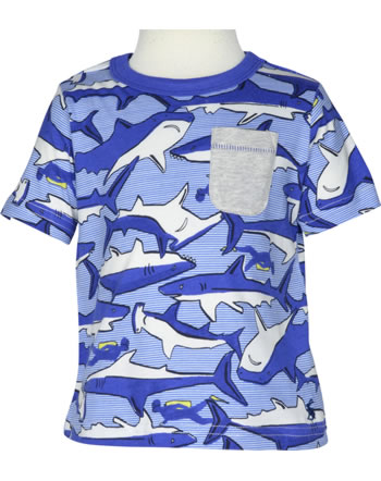 Tom Joule T-Shirt manches courtes SHARKS blue/white Y_YNGOLLY-SHRKRSTR