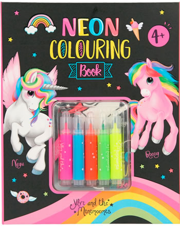 Ylvi and the Minimoomis Neon Colouring Book 10331