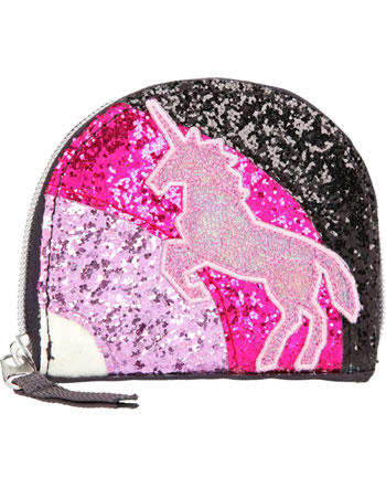 Ylvi and the Minimoomis purse Rainbow glitter anthracite