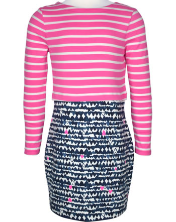 Tom Joule Robe manches longues COEURS navy/rose Z_ODRORIANE-NVHRTS