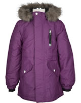 name it Winterjacke m. Fell-Kapuze NITMEDENIM dark purple 13137951