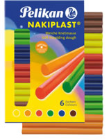 Pelikan Nakiplast Wachsknete - 6 Farben
