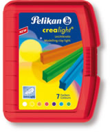 Pelikan Knetebox Crealight rot - 7 Farben