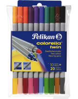 Pelikan 10 Faserschreiber Colorella-Star Twin