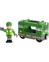 BRIO Locomotive cargo et conducteur 33894