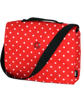 BRIO Diaper Bag red with points 24891594