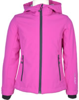 CMP Softshell-Jacke mit Kapuze Girl hot pink-argento 3A29385N-113Q