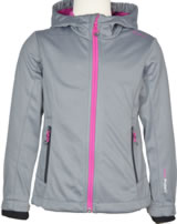 CMP Softshell-Jacke mit Kapuze Girl argento-hot pink 3A29385N-M328Q