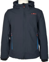 CMP Softshell jacket with hood Boy antracite-vela 3A00094-877P