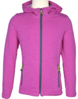 CMP Fleece-Jacke in Strick-Optik Kapuze Girl hot pink meliert 3E21655-B756