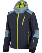 CMP Softshell jacket with hood Clima Protect Boy antracite/lime 3A20064-65AA