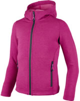 CMP Fleece-Jacke mit Kapuze Girl ibisco mel.-antracite 3E21655-94AD